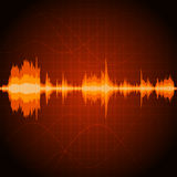 Sound wave background Stock Photos