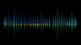 Sound wave  background. Green sound wave in the dark  background Stock Photography