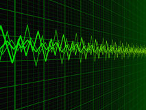 Sound Wave Background Stock Image