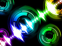 Sound Wave Background Means Audio Mixer Or Beats Pattern Royalty Free Stock Image