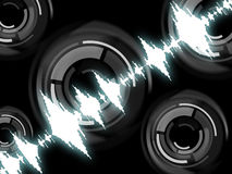 Sound Wave Background Means Frequency Mixer Or Sound Analyzer Royalty Free Stock Image