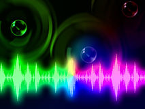 Sound Wave Background Means Music Volume Or Amplifier Stock Photography