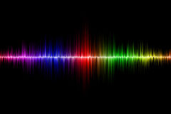 Sound wave background Royalty Free Stock Images