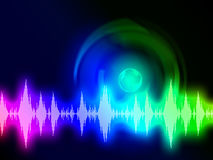 Sound Wave Background Shows Audio Spectrum Or Energy Stock Image