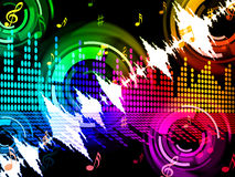 Sound Wave Background Shows Beats Spectrum Technology Royalty Free Stock Photos