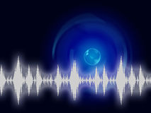 Sound Wave Background Shows Sound Equalizer Or Frequency Stock Photos