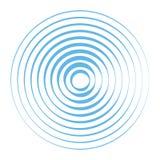 Sound wave background. Radio station signal. Vector illustration Stock Photos