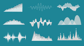 Sound wave. Background, vector illustration with layers file Royalty Free Stock Image