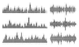 Sound wave collection. Various Sound wave collection with creative icons Royalty Free Stock Photography
