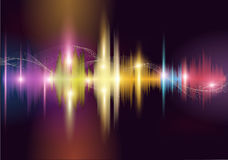 Sound wave. Colorful sound wave. Vector background Stock Photography