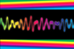 Sound Wave. In colors of rainbow Royalty Free Stock Photos