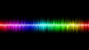 Sound Wave. With colors of rainbow Royalty Free Stock Photo