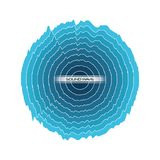 Sound wave design. Blue sound wave in circle shape over white background vector illustration Royalty Free Stock Photos