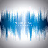 Sound wave. Design over gray background vector illustration Stock Images