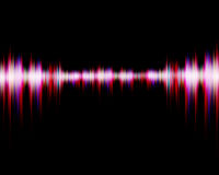 Sound wave digital on black background Stock Photos