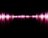 Sound wave digital on black background Stock Photos