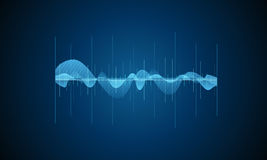 Sound wave. Digital equalizer. Vector illustration. Music sound wave. Digital equalizer. Vector illustration Stock Photos