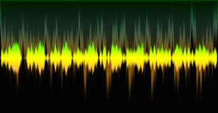 Sound wave effect. In photoshop Stock Image