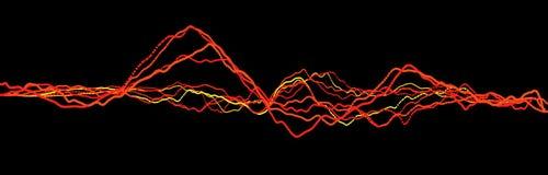 Sound wave element. Abstract black digital equalizer. Big data visualization. Dynamic light flow. 3d rendering vector illustration
