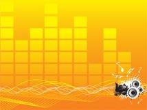 sound wave för bakgrund stock illustrationer