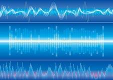 sound wave för bakgrund Arkivfoto