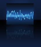 sound wave för elektronisk sinus Arkivfoto