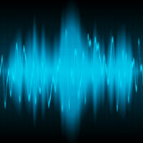 sound wave för energi Arkivfoto