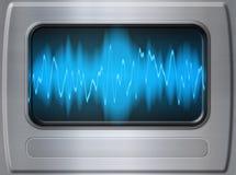 sound wave för metall Royaltyfria Bilder