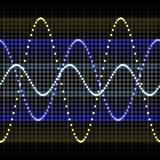 Sound wave forms. Illustration of sound waves. A seamlessly tiling texture Stock Photo