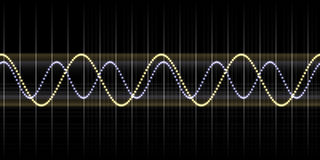 Sound wave graphic Royalty Free Stock Photography