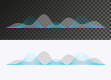 Sound wave. Green and gray sound wave on transparent and white background Stock Photos