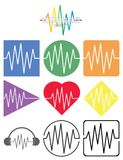 Sound wave icon concept collection. Sound wave icons concept collection sine curve Royalty Free Stock Image