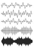 Sound Wave Icon Set Royalty Free Stock Image