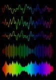 Sound Wave Icon Set Stock Photo