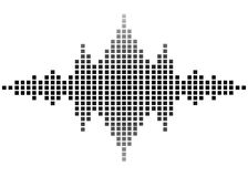 Sound wave. Illustration of black sound wave Royalty Free Stock Photos