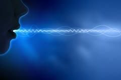 Sound wave illustration. Equalizer sound wave background theme. Colour illustration Royalty Free Stock Photo
