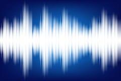 Sound Wave Light Background Illustration. Vector Royalty Free Stock Photo