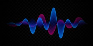 Sound wave voice line or pulse abstract background royalty free illustration