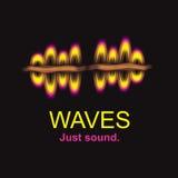 Sound wave logo illustration hand drawn Royalty Free Stock Photos