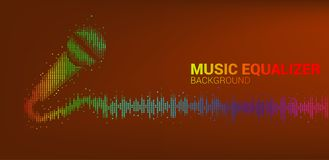 Karaoke graphic pixel style concept royalty free illustration