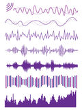 Sound wave. Multiple graphic design of sound wave/ audio visualize Stock Photo
