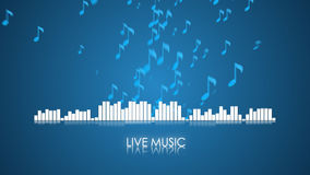 Sound wave and music note Royalty Free Stock Photos