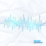 Sound Wave on Paper Background. Abstract Equalizer Stock Photos