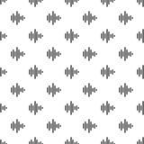 Sound wave pattern seamless. Repeat illustration of sound wave pattern vector geometric for any web design Stock Image