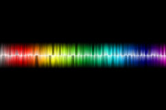 Sound wave. The photograph is prepared using 3D rendering and Gaussian noise distribution in image processing software and coding. It consists of 3 layers Royalty Free Stock Image