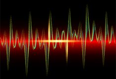 Free Sound Wave Rhythm Background. Spectrum Color Digital Sound Wave Equalizer, Technology And Earthquake Wave Concept, Music Design Royalty Free Stock Photography - 180689927