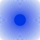 Sound wave rings background. Blue and white rings. Stock Photography