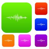 Sound wave set collection Royalty Free Stock Photography
