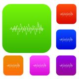 Sound wave set collection Stock Photography