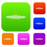 Sound wave set collection Royalty Free Stock Image